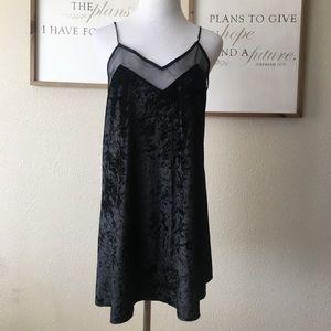 Lulu's black velvet dress *flawed